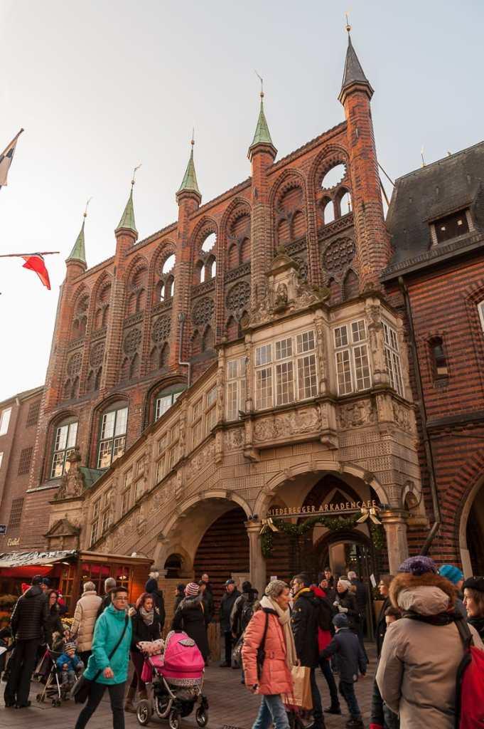 Renaissancetreppe am Rathaus von Lübeck