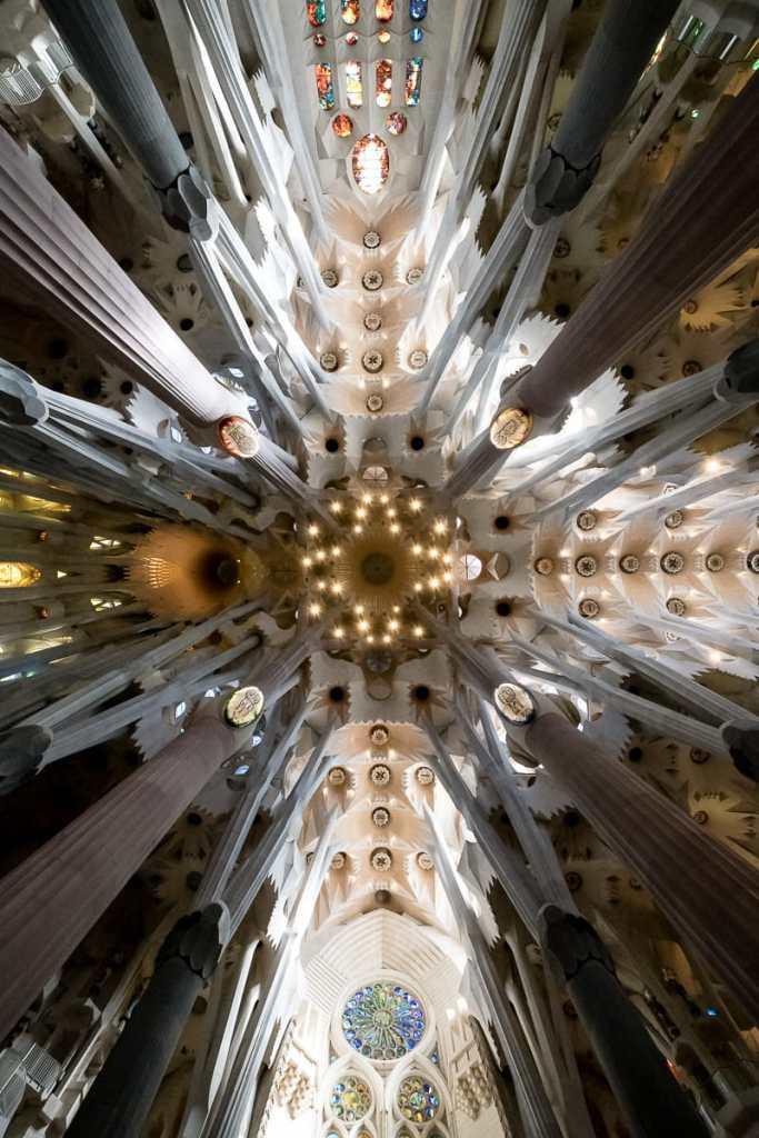 Decke der Sagrada Familia, Barcelona