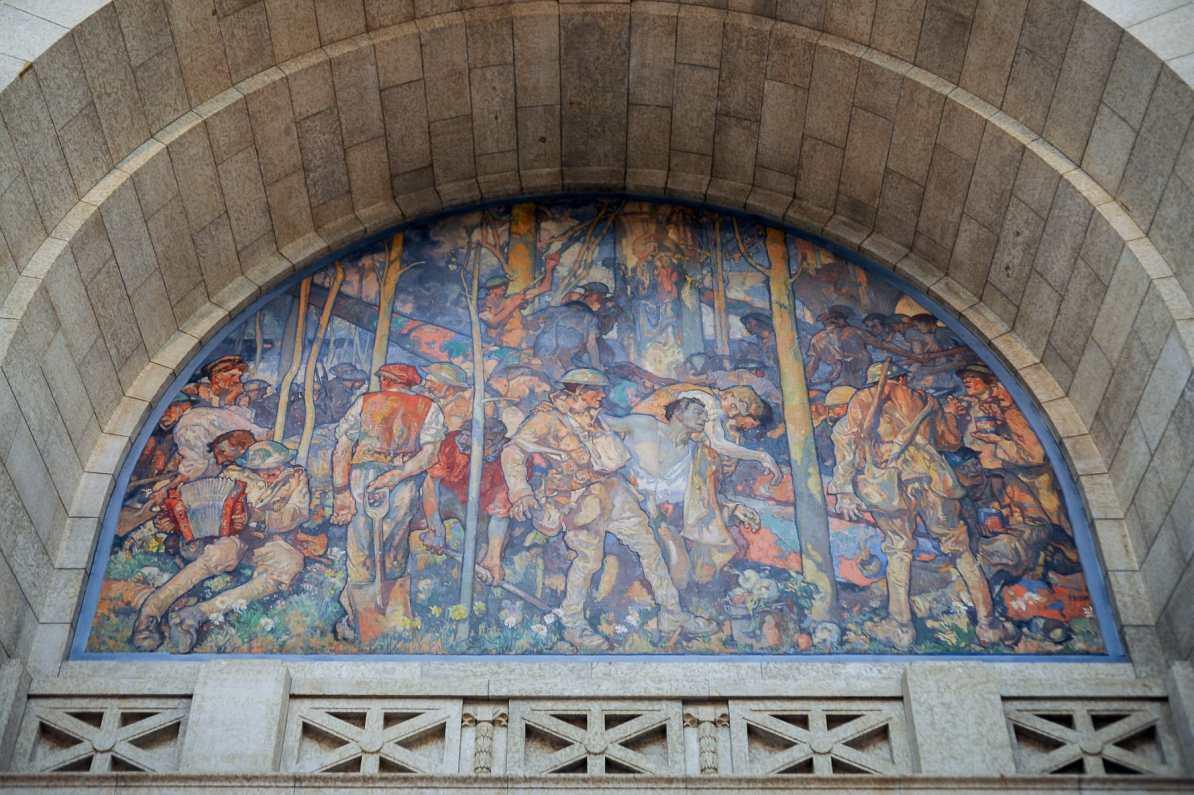 Das Wandgemälde bzw. Altargemälde