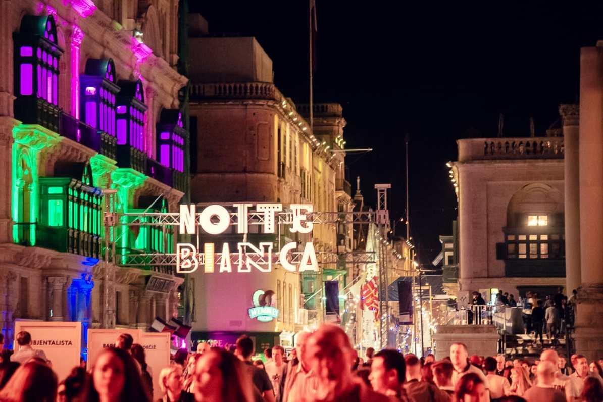 Beim Notte Bianca ist halb Malta in der Hauptstadt