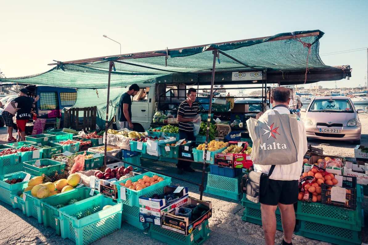 Sonntag auf dem Fischmarkt Marsaxlokk