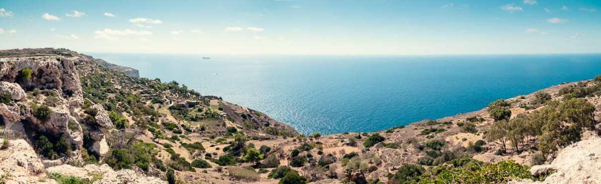 Ausblick von den Dingli Cliffs