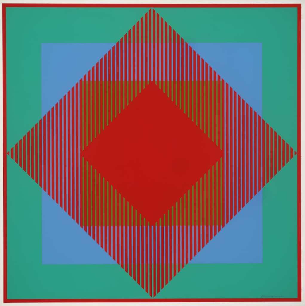 Richard Anuszkiewicz, Ohne Titel, 1965, Tate, London, © VG Bild-Kunst, Bonn 2018, Foto: Tate, London