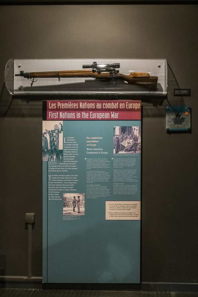First Nations als Teil der Ausstellung.