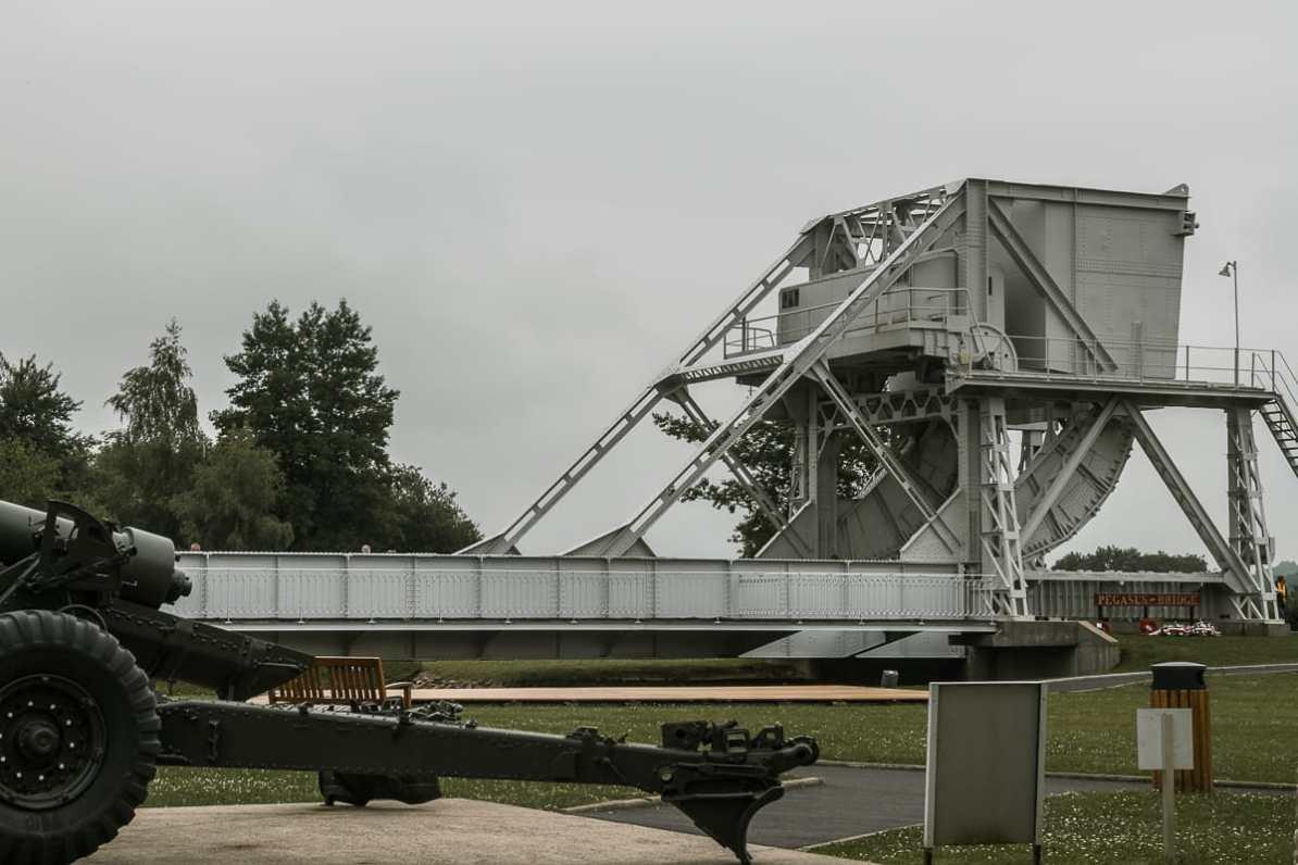 Die Original Pegasusbrücke im Museum.