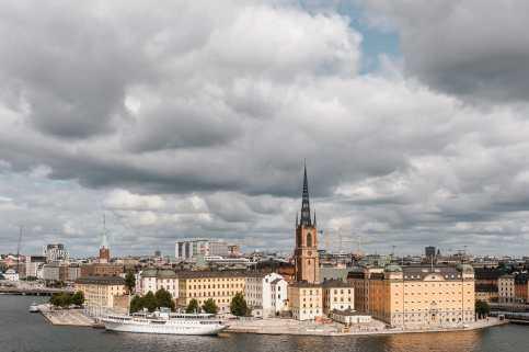 Aussicht auf Gamla Stan von Södermalm aus