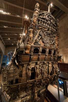 Heck der Vasa mit zahlreichen Holzschnitzereien