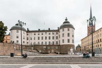 Evert Taubes Terass mit Svea hovrett, einem Gerichtsgebäude, im Hintergrund