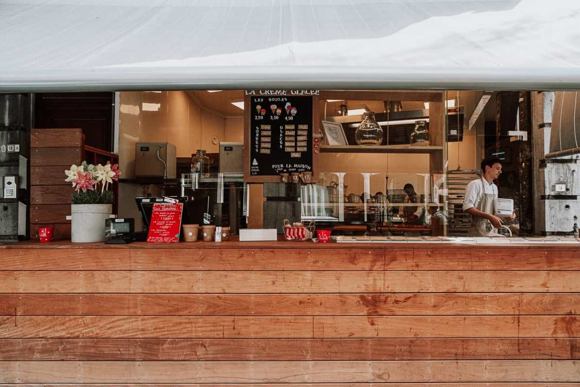 Une Gaufrette Saperlipopette - La Glacerie - Backstube und Eisladen in Lüttich.