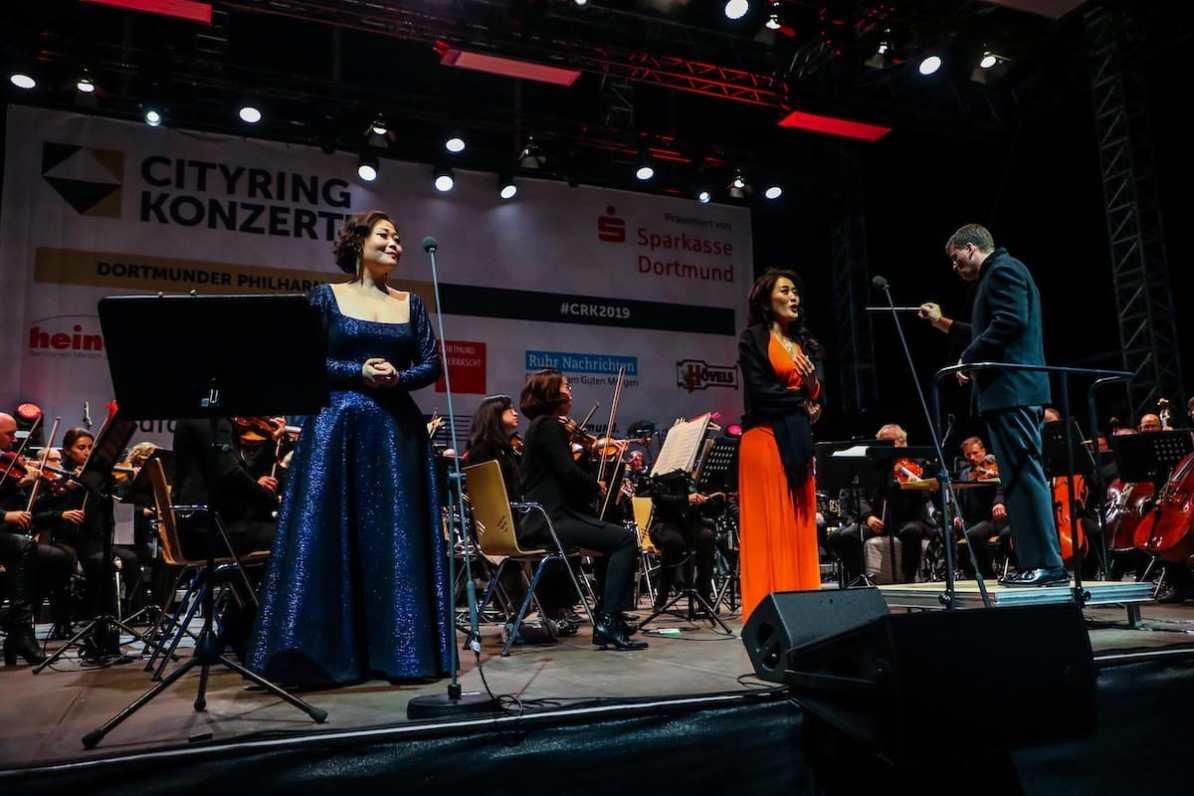 Anna Sohn & Hyona Kim, UN BEL DI VEDREMO Operngala, Cityring-Konzerte 2019, Foto: Jan Heinze/Stephan Schütze