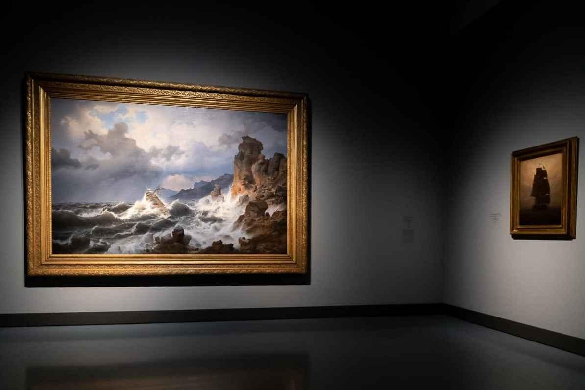 Bild von Andreas Achenbach - Ein Seesturm an der norwegischen Küste, 1837 - wandfüllend im Kunstpalast Düsseldorf