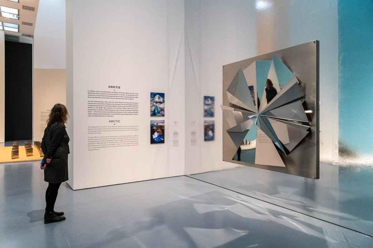 Arktis - Installation Silver-Fan (2014) aus Edelstahl