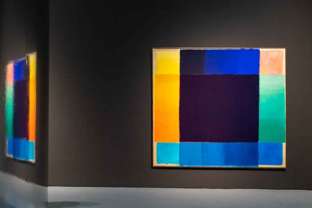 Heinz Mack - große Chromatische Konstellation (Chromatische Konstellation), Acryl auf Leinwand, riesen großes Gemälde