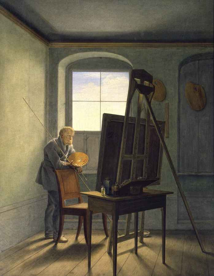 Georg Friedrich Kersting - Caspar David Friedrich im Atelier, um 1812, Staatliche Museen zu Berlin, Nationalgalerie Foto: Jörg P. Anders