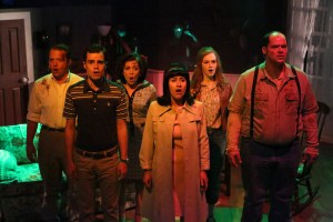 Cast of Night of the Living Dead Photo by JIll Ritter Lindberg New Line Theatre