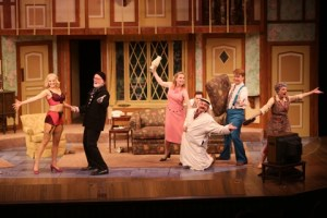 The Cast of Noises Off Photo by Jerry Naunheim, Jr. Repertory Theatre of St. Louis