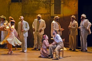 Alicia Hall Moran and Nathaniel Stampley (center) with the cast of The Gershwins' Porgy and Bess Photo by Michael J. Lutch The Gershwins' Porgy and Bess National Tour