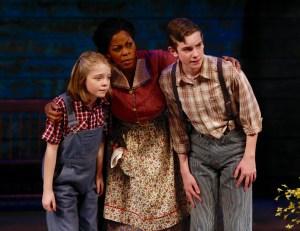 Kaylee Ryan, Tanesha Gary, Ronan Ryan Photo by Jerry Naunheim, Jr. Repertory Theatre of St. Louis