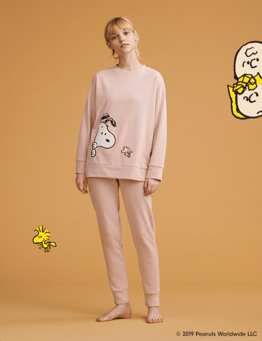 スヌーピーとGUコラボのパジャマ&部屋着2019秋冬