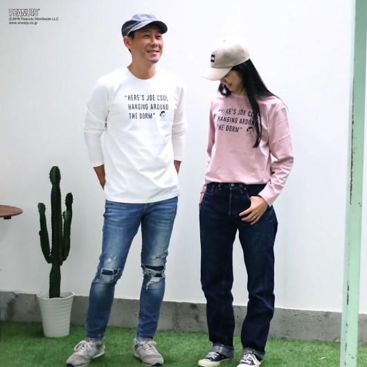 スヌーピーとノアデパートメントストアコラボのTシャツ