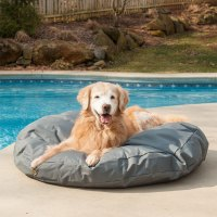 Outdoor Waterproof Round Dog Bed | Snoozer Pet Products