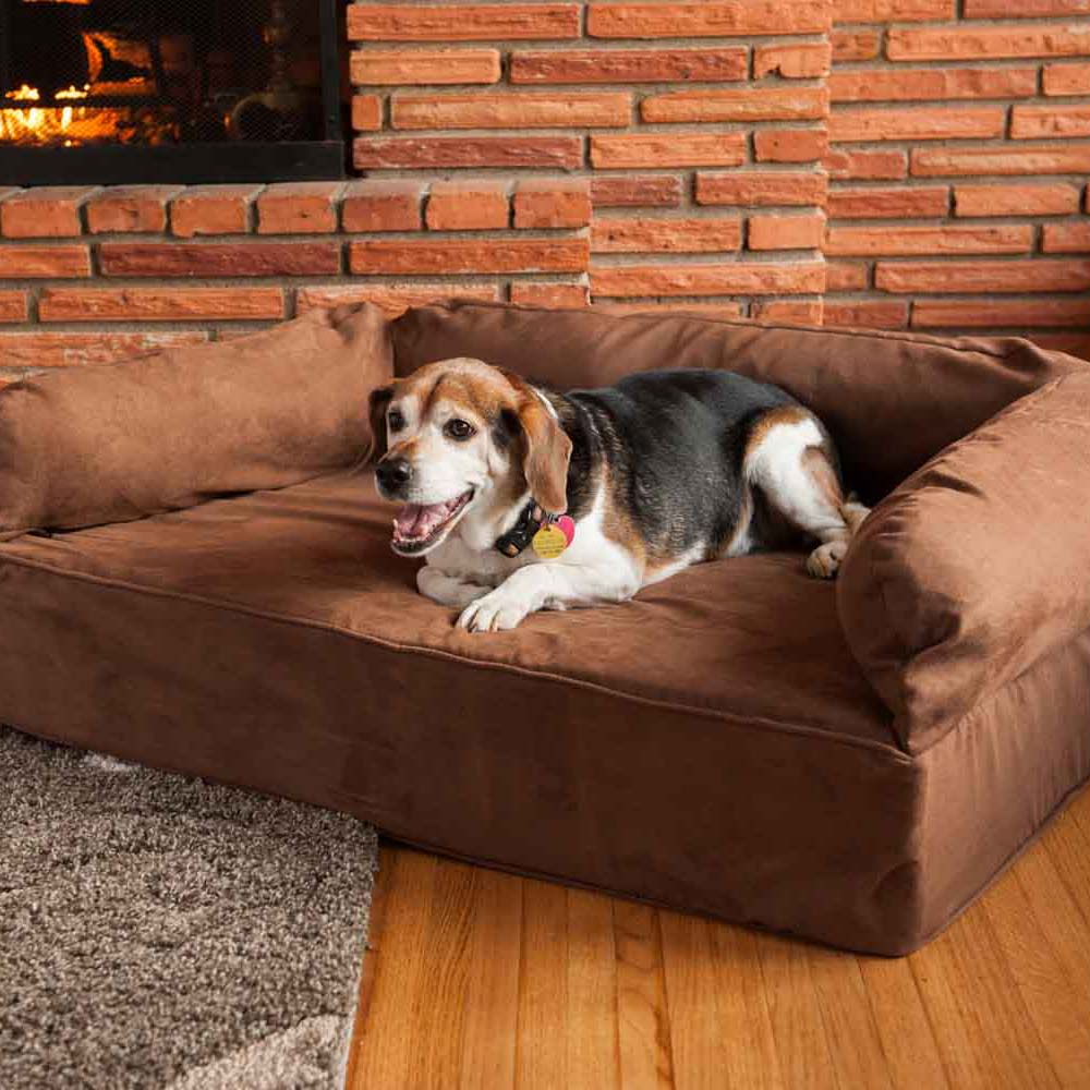 Snoozer Luxury Dog Sofa with Memory Foam  Pet Couch