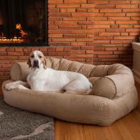 Snoozer Overstuffed Luxury Dog Sofa