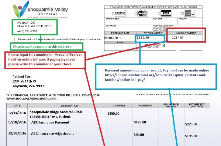 Online Bill Pay  Snoqualmie Valley Hospital
