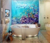 Floating Underwater Houses Snorkeler' Dream House