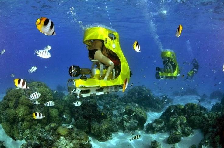 Bora Bora Aquabike adventures