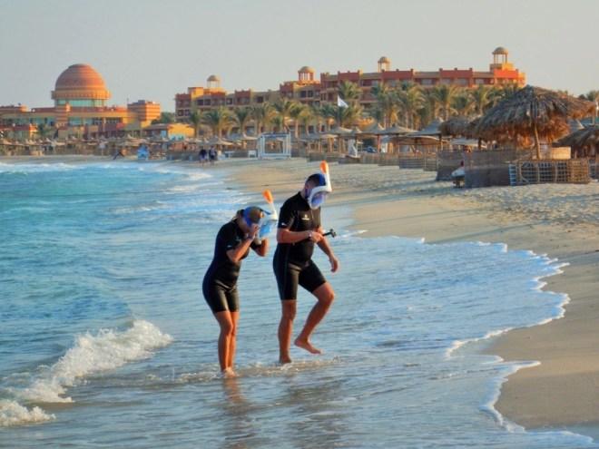 Abu Dabbab Snorkeling in Full Face Mask