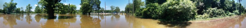 Panoramic of the flood.