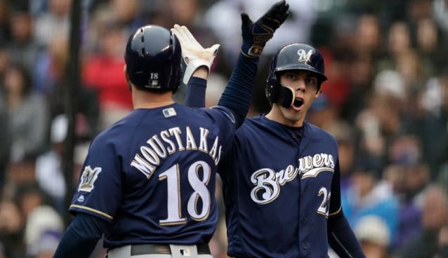 low priced 42d48 31d84 Brewers 2018 Grades: Outfield Where MVP's Roamed — SnoTapWI