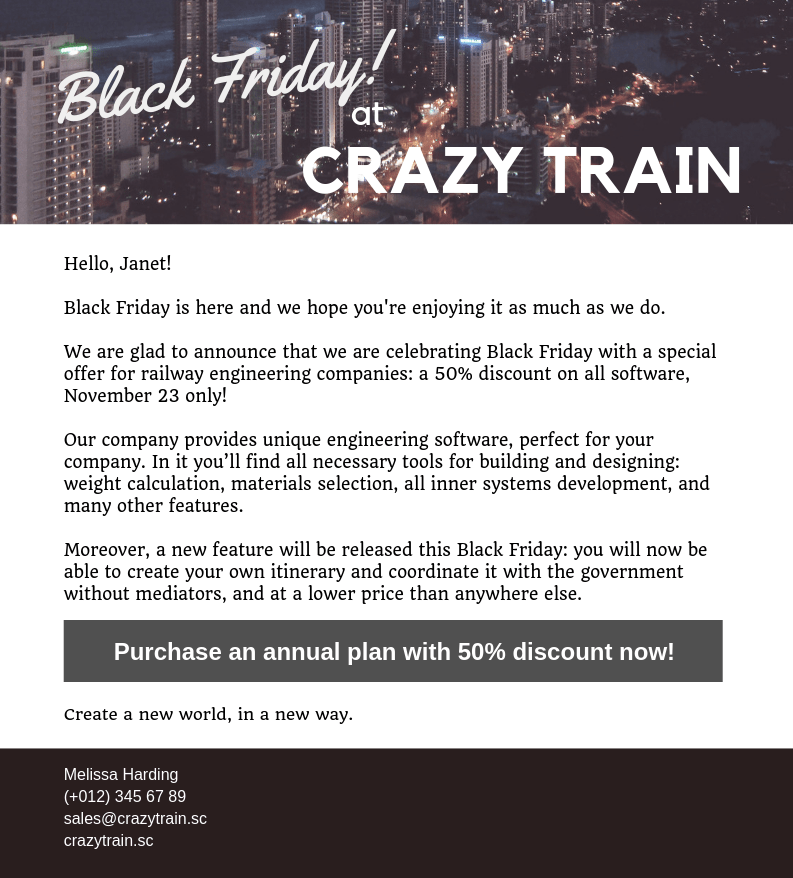 2018 Black Friday Email Campaigns - 10 Email Examples - Snovio Labs