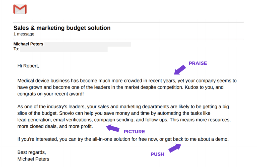 PPP email formula