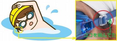 水泳用ゴムが緩みやすくなった時の応急処置
