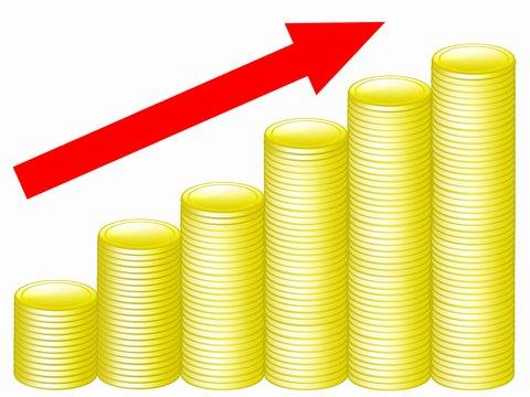 株式投資で資産形成するイメージ図