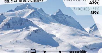 Viaje a Tignes-Val d'isere white-days. Puente de la constitución
