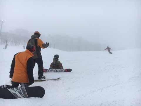霧の猫魔スキー場