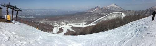 猫魔スキー場パノラマ