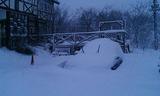 雪に埋まった車