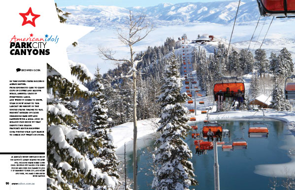 Read up on the amazing new Park City / Canyons hook up -  America's new biggest ski resort - in our current issue