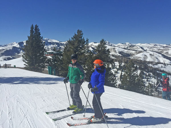 Deer Valley with Park City in the background