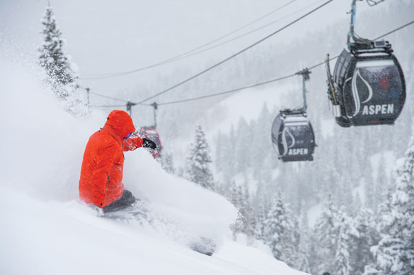Snowy times under the gondola © Aspen Snowmass