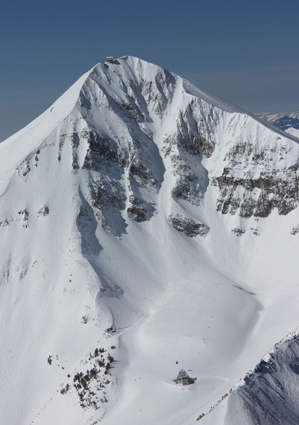 Big Couloir at Big Sky. Now that's a couloir!  © Michel Tallichet