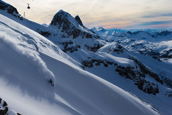 Engelberg-Titlis is the heart of Swiss skiing, only just over an hour from zurich airport © Oskar Enander