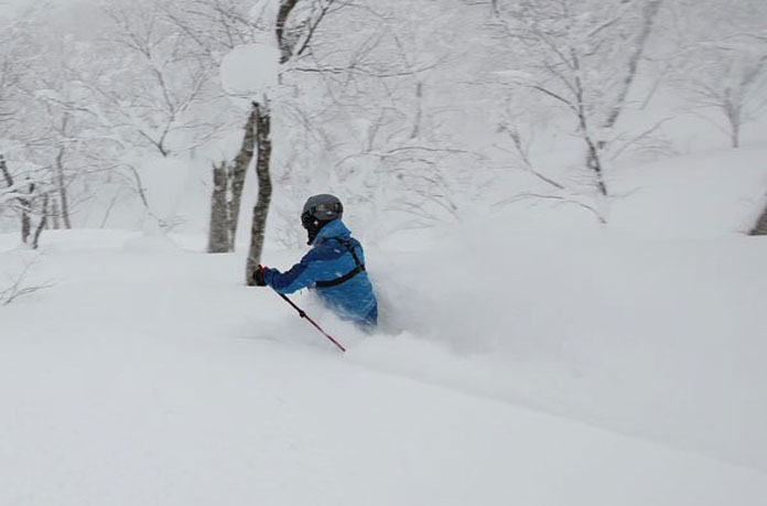 Geto Kogen tree skiing