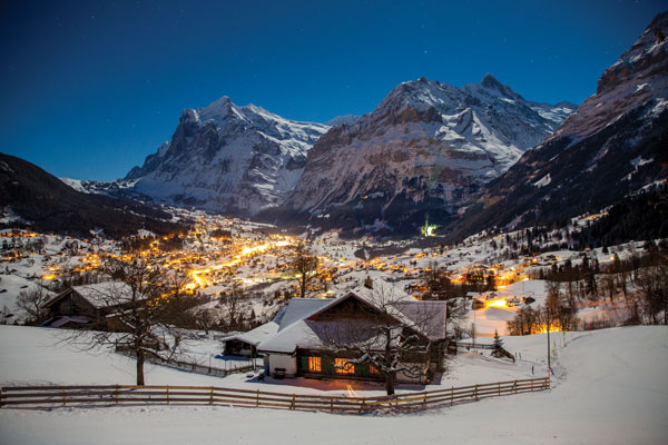 Grindelwald at night