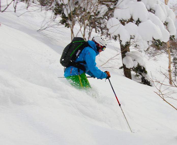 Powder skiing at Sapporo Kokusai ski resort
