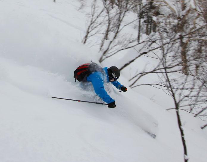 waist deep skiing at Sapporo Kokusai ski resort